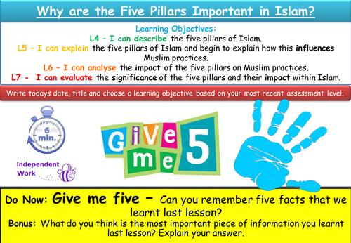 KS3 Islam Lesson - The Five Pillars