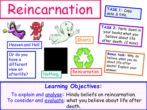 KS3 Lessons on Life after Death 3-4 - Reincarnation and Ancient Egyptian Afterlife