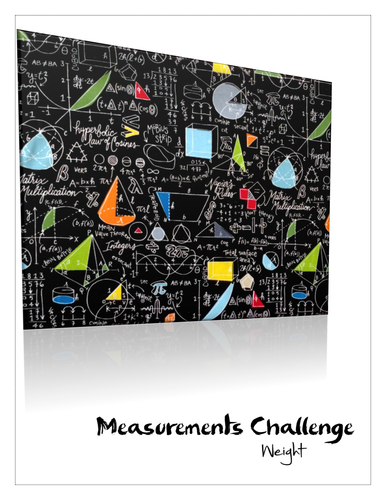 Maths measurements booklet for weight with answers