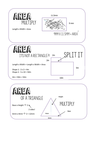 Maths revision flash cards