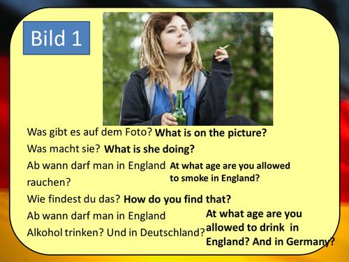 Stimmt 3 Chapter 5 (Rechte und Pflichten) GCSE Style role play, picture description and translation
