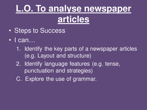 Features of newspapers - ppt