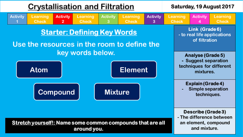 Filtration and Crystallisation - NEW AQA GCSE