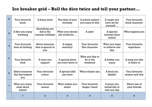 Ice breaker grid  challenge