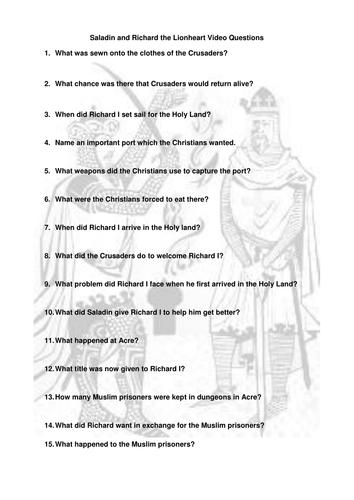 Lesson 6 - Saladin and Richard the Lionheart