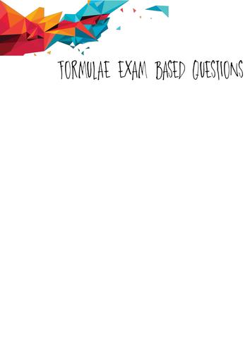 Functional Skills Maths formula L2 exam question booklet