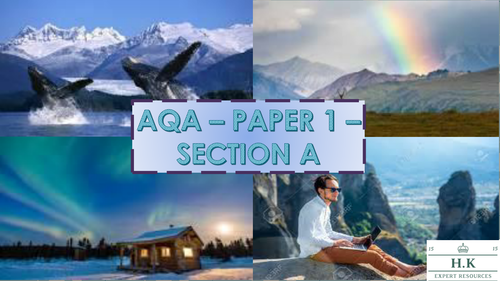 GCSE AQA LANGUAGE PAPER 1 - SECTION A - COMPLETE