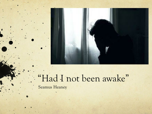 """""""Had I not been awake"""" by Seamus Heaney- Poetry Analysis (CCEA A Level)"""