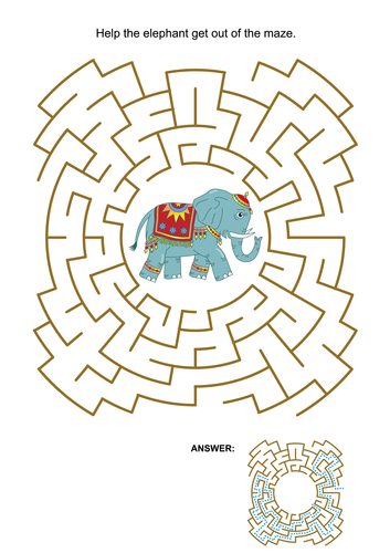 Maze Game with Elephant