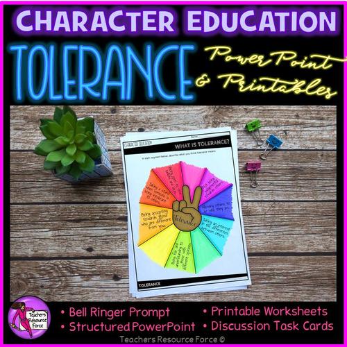 Tolerance Character Education Values (PowerPoint, Task ...