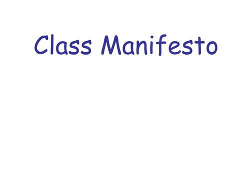 New class manifesto