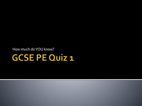 Revision GCSE PE