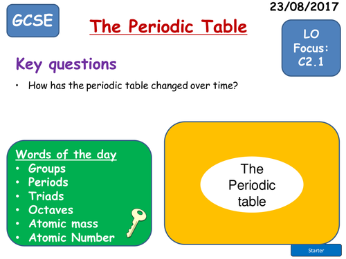 AQA Trilogy Science The Periodic Table