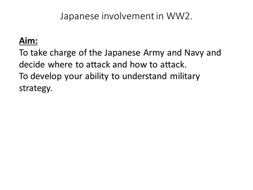 WW2 and the expanding Japanese Empire
