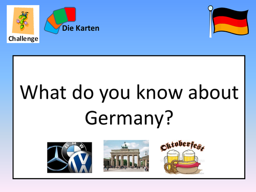 Back to School German First Lesson