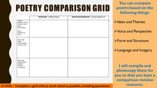 Poetry Comparison Grid