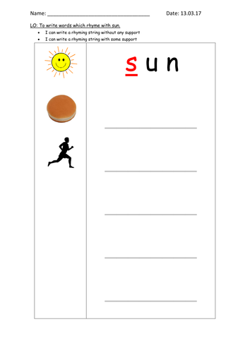 Rhyming String Template By Paulcarruthers Teaching Resources