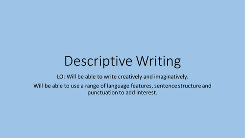 New Spec AQA English Language Creative/Descriptive Writing