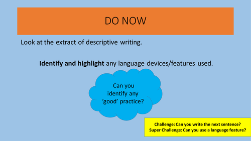 AQA English Language New Spec Creative/Descriptive Writing