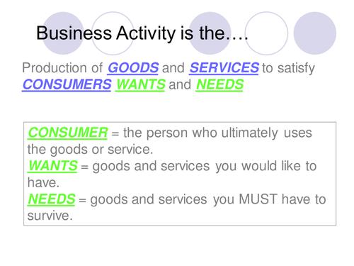Business Studies – Cambridge IGCSE – Understanding Business Activity – Unit 1