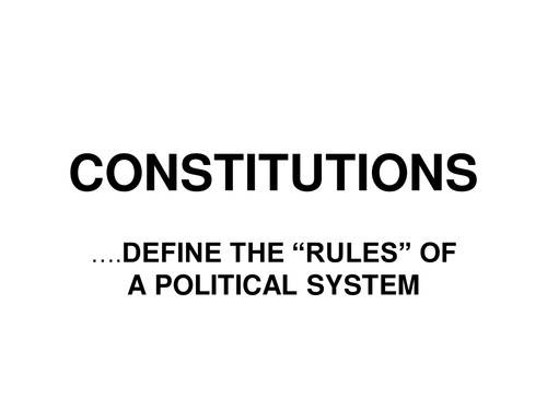 WJEC AS Level Government and Politics Unit 1 British Constitution (and in a global context)