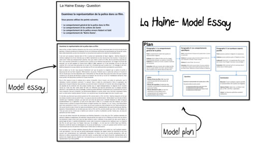 la haine model essays practice big bundle a level french la haine model essays 2 a level french questions from aqa