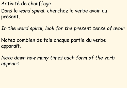 Passé Composé - Whole Class Practice