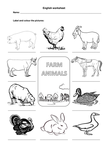 farm animals worksheet by mmcorreia teaching resources. Black Bedroom Furniture Sets. Home Design Ideas