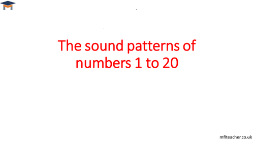 French - The sounds of numbers