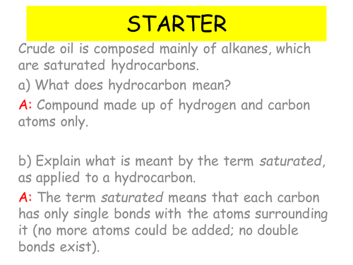 AQA A-Level Chemistry Alkenes