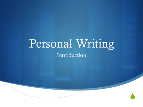 Personal Writing