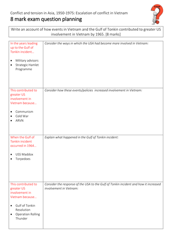 AQA GCSE History - Conflict in Asia - Section 2 - L7 - Gulf of Tonkin