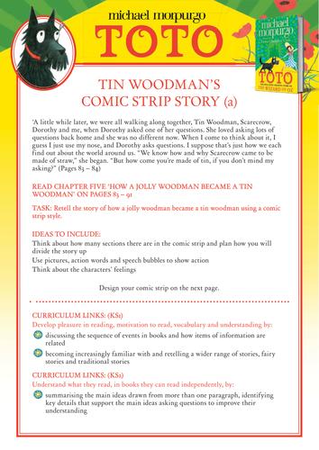 Michael Morpurgo's Toto - Tin Woodman's Comic Strip Story
