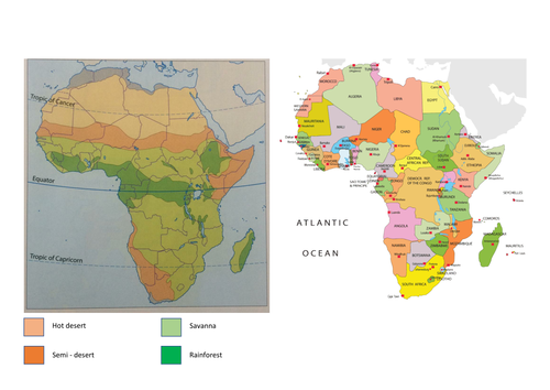 Lesson Africas Biomes KS Geography Africa Unit By - Africa map ks2