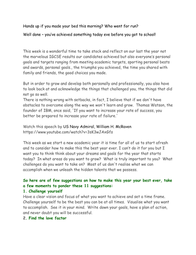 Secondary School Start of Year Assembly by carmelodolan | Teaching
