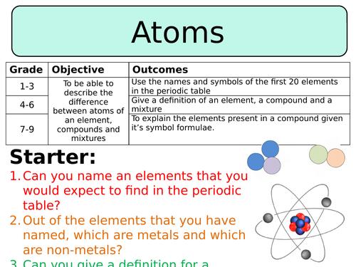 New Aqa Gcse Chemistry 2016 Atoms Elements Compounds