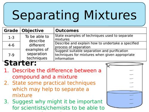 NEW AQA GCSE Chemistry (2016) - Separating Mixtures