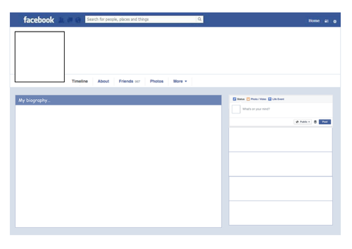 Facebook (2016 model) worksheet template
