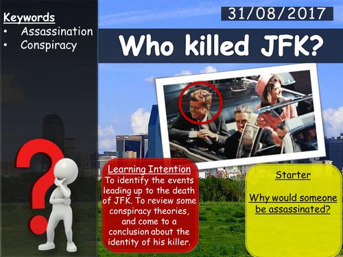 Who Shot JFK? Lesson