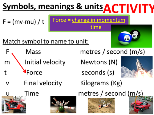 Momentum, rate of change of momentum, impulse, Safety, crumple zones, air bags. Full lesson.