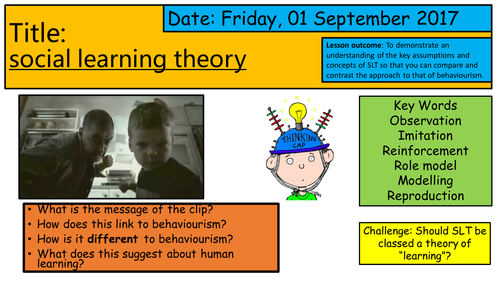 AQA Psychology Y12 - Social Learning Theory