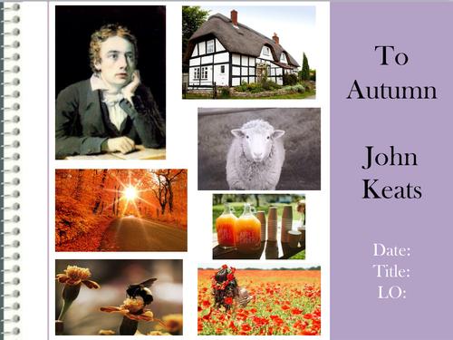 analysis of john keats to autumn