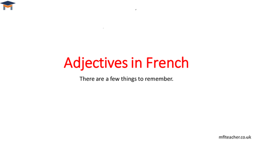 French - Adjectives