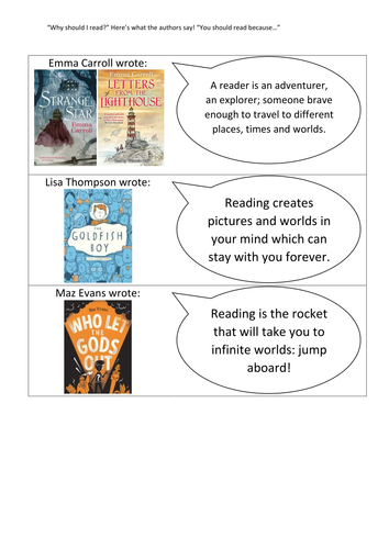 """""""Why should I read?"""" author comments for display"""