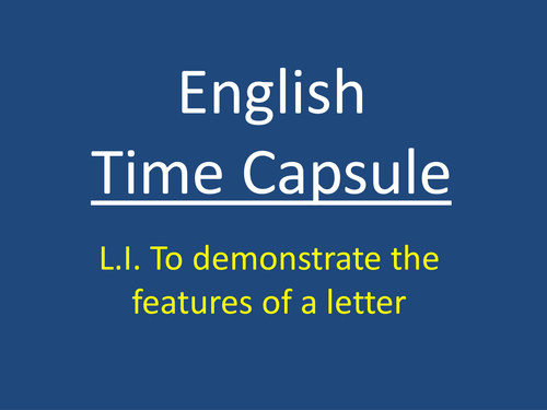 Letter Writing - Time Capsule - Perfect for the start of the year