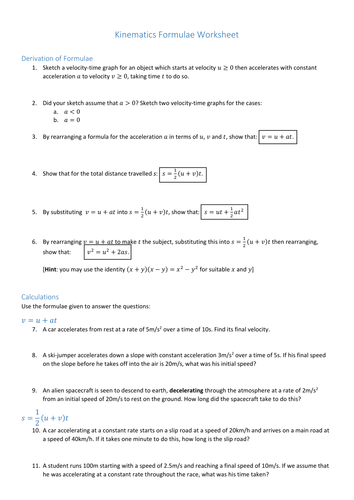 Secondary kinematics resources
