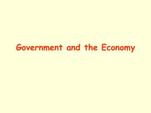 Business Studies – Cambridge IGCSE – External Influences – Unit 26 – Government Economic Objectives