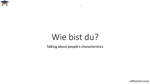 German - Personality words