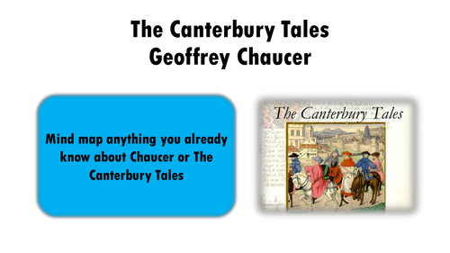 Chaucer: The Canterbury Tales introduction