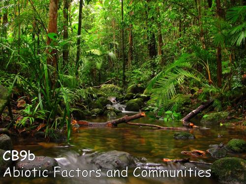 Edexcel CB9b Abiotic Factors and Communities